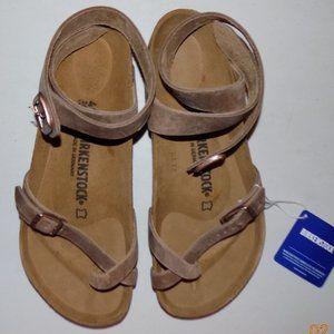 New Birkenstock Yara Tabacco Leather EU41 US10